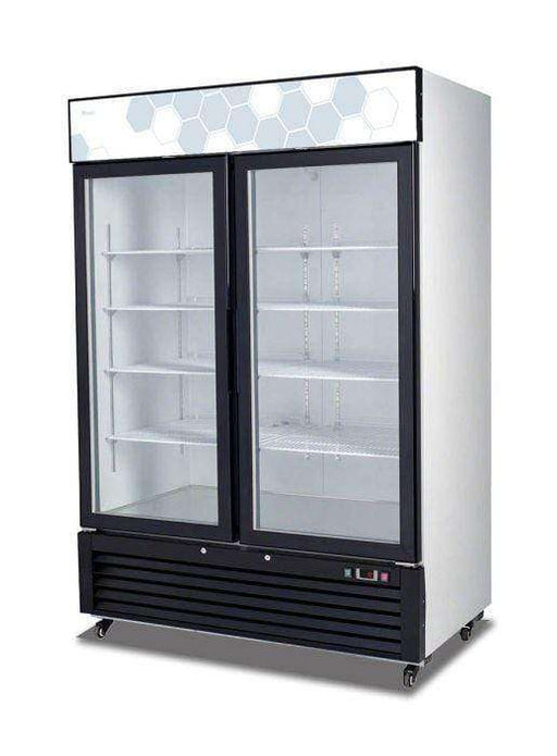 Migali - C-49RM-HC 49 cu/ft Glass Door Merchandiser Refrigerator