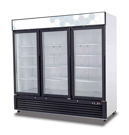Migali - C-72RM-HC 72 cu/ft Glass Door Merchandiser Refrigerator
