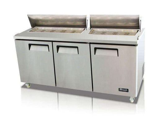 Migali - C-SP72-18-HC 72″ – 18 Pans, Sandwich Prep Table