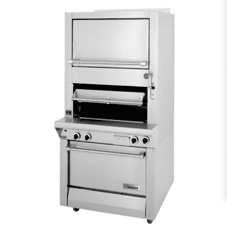 Garland M100XRM Deck Type Broiler w/ Finishing Oven & Standard Oven Base, Natural Gas