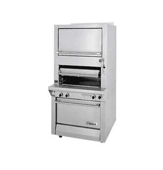 Garland M100XSM Infrared Deck Type Broiler w/ Finishing Oven, Natural Gas