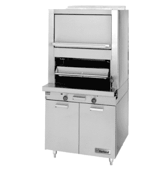 Garland M60XR Deck Type Broiler w/ Upper Finishing Oven, Standard Oven, Natural Gas