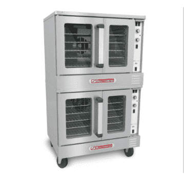 Southbend SLGS/22SC SilverStar Double Full Size Natural Gas Convection Oven - 144,000 BTU