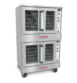 Southbend BGS/22SC Bronze Double Full Size Natural Gas Convection Oven - 108,000 BTU