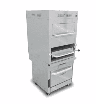 Southbend Model No. P32C‐171 Infrared BroIler wIth Overhead WarmIng Oven and SectIonal Base