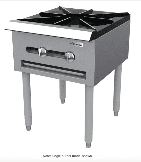 "Garland SP-1844-2 Natural Gas Double Countertop Stock Pot Stove with 6"" Legs - 90,000 BTU"