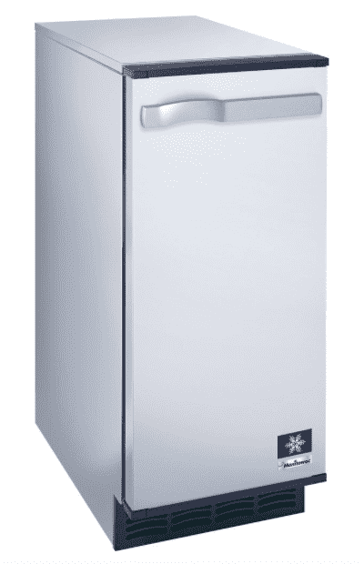 "Manitowoc SM-50A 14 3/4"" Air Cooled Undercounter Octagonal Cube Ice Machine with 25 lb. Bin - 53 lb."