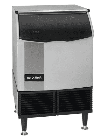 "Ice-O-Matic ICEU150HA 24 1/2"" Air Cooled Undercounter Half Dice Cube Ice Machine with 70 lb. Bin - 115V; 185 lb."
