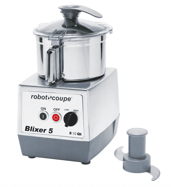 Robot Coupe Blixer 5 Food Processor with 5.5 Qt. Stainless Steel Bowl and Two Speeds - 3 hp