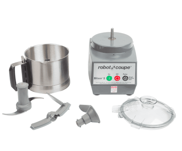 Robot Coupe Blixer 2 Food Processor with 2.5 Qt. Stainless Steel Bowl and Single Speed - 1 hp