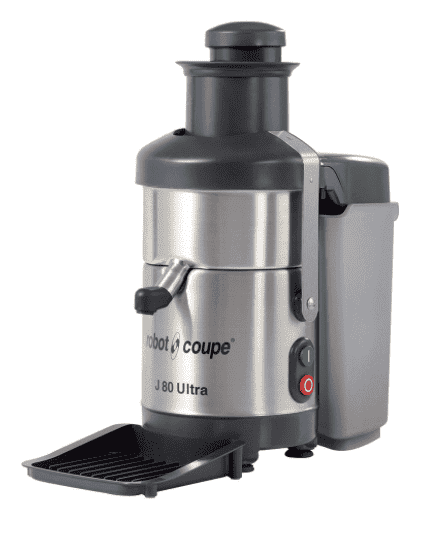 Robot Coupe J80 ULTRA Table Top Centrifugal Juicer w/ 6.5 qt Waste Container & Anti-Drip Spout