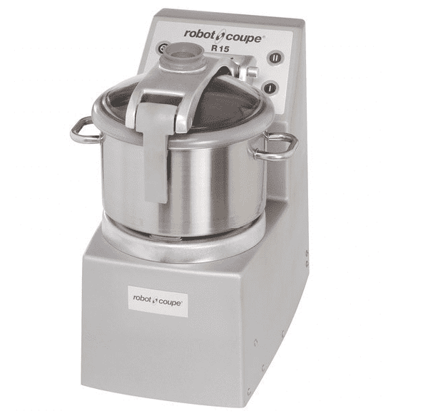 Robot Coupe R15 Vertical Food Processor with 15 Qt. Stainless Steel Bowl - 4 hp