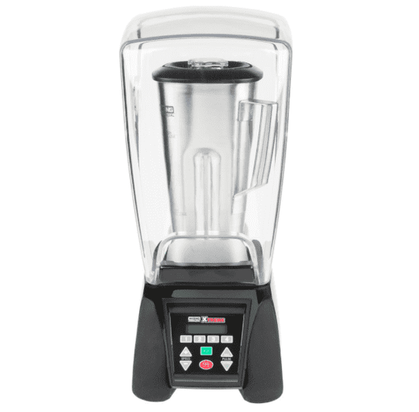 Waring MX1500XTS Xtreme 3 1/2 hp Commercial Blender with Programmable Keypad, LCD Screen, Adjustable Speed, and 64 oz. Stainless Steel Container