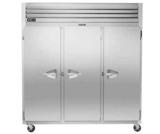 "Traulsen G31010 77"" G Series Solid Door Reach-In Freezer with Left / Right / Right Hinged Doors"