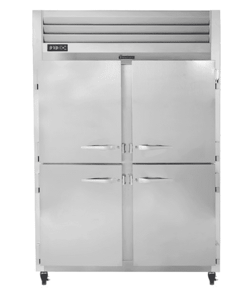 Traulsen G20000 2 Section Half Door Reach In Refrigerator - Left / Right Hinged Doors