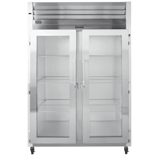Traulsen G21010 2 Section Glass Door Reach In Refrigerator - Left / Right Hinged Doors