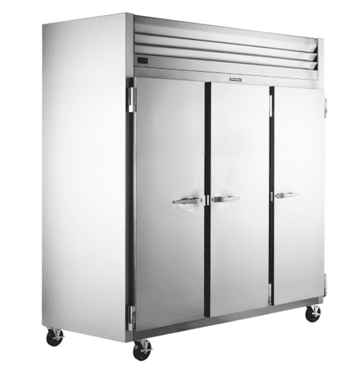 "Traulsen G30010 77"" G Series Solid Door Reach-In Refrigerator with Left / Right / Right Hinged Doors"