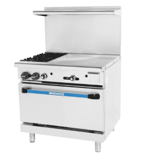 "Turbo Air TARG-2B24G 36"" 2 Burner Gas Range w/ Griddle & Standard Oven, Natural Gas"