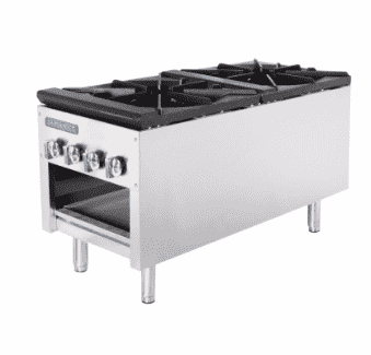 Turbo Air TASP-18-D 2 Burner Stock Pot Range, Natural Gas