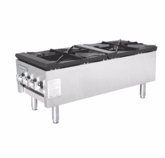 Turbo Air TASP-18S-D 2 Burner Stock Pot Range, Natural Gas