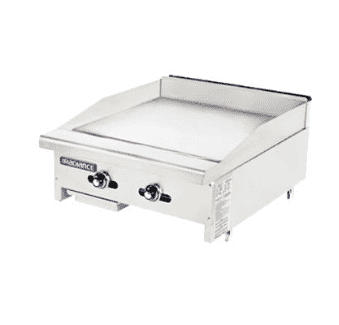 "Turbo Air TATG-24 24"" Gas Griddle w/ Thermostatic Controls - 1"" Steel Plate, Gas"