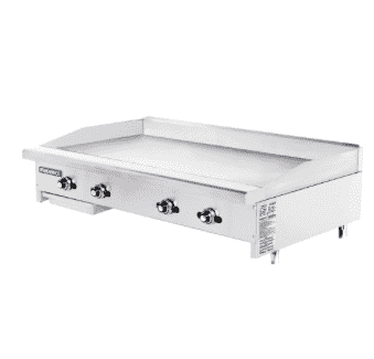 "Turbo Air TATG-48 48"" Gas Griddle w/ Thermostatic Controls - 1"" Steel Plate, Natural Gas"
