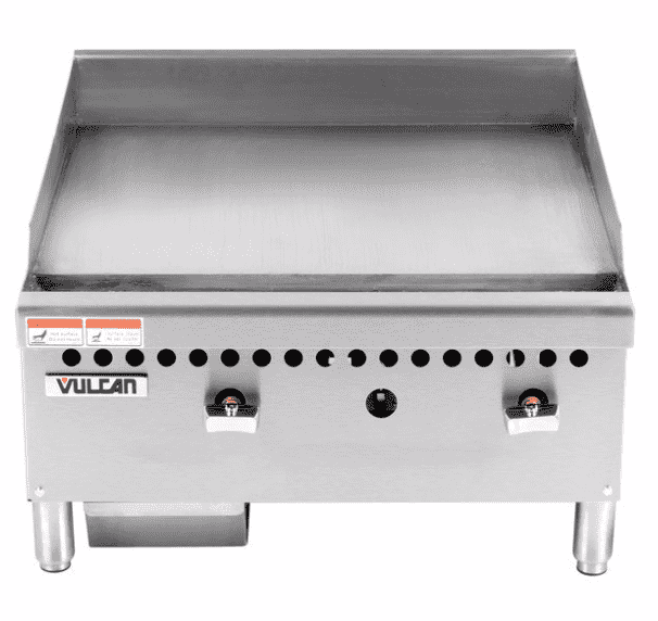 "Vulcan VCRG24-M 24"" Gas Griddle w/ Manual Controls - 1"" Steel Plate, Natural Gas"