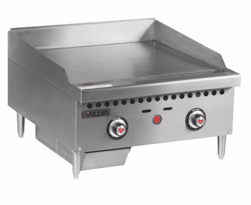 "Vulcan VCRG24-T 24"" Gas Griddle w/ Thermostatic Controls - 1"" Steel Plate, Natural Gas"