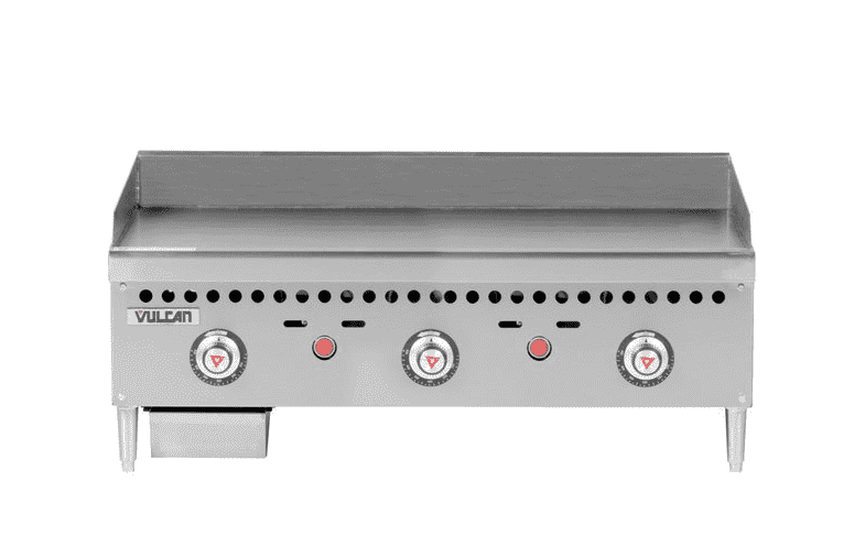 "Vulcan VCRG36-T 36"" Gas Griddle w/ Thermostatic Controls - 1"" Steel Plate, Natural Gas"