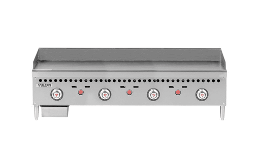 "Vulcan VCRG48-T 48"" Gas Griddle w/ Thermostatic Controls - 1"" Steel Plate, Natural Gas"