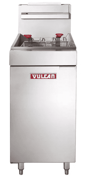 Vulcan LG500-1 65-70 lb. Natural Gas Floor Fryer - 150,000 BTU