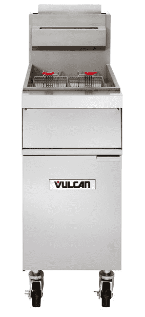 Vulcan 1GR45M-1 45-50 lb. Natural Gas Floor Fryer - 120,000 BTU