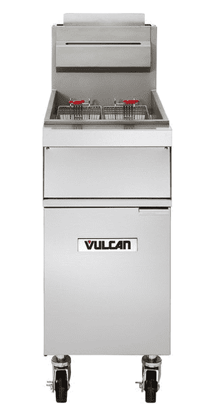 Vulcan 1GR45A-1 45-50 lb. Natural Gas Floor Fryer with Solid State Controls - 120,000 BTU