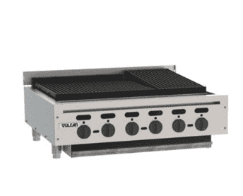 "Vulcan VACB36 36"" Radiant Charbroiler w/ Cast Iron Grates, Natural Gas"
