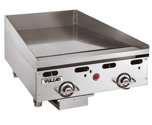 "Vulcan MSA24-101 24"" Countertop Natural Gas Griddle with Snap Action Thermostatic Controls - 54,000 BTU"