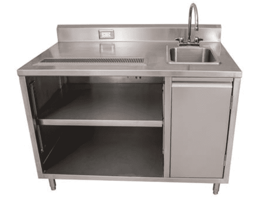 "BK Resources: BEVT-3048R: 30"" X 48"" BEVERAGE TABLE SINK ON RIGHT"