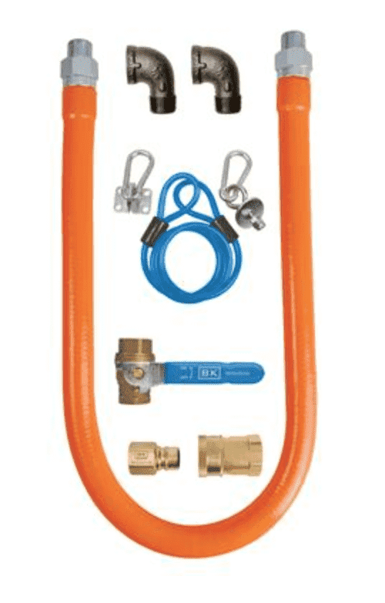 "BK Resources: BKG-GHC-7548-SCK3: 3/4"" X 48"" GAS HOSE CONNECTOR KIT"