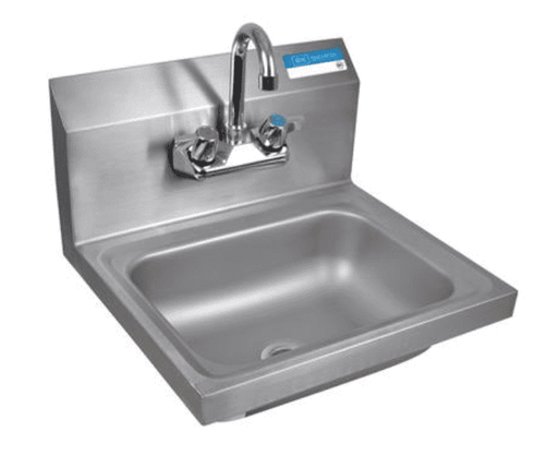 "BK Resources:BKHS-W-1410-P-G: SM HAND SINK 1-7/8"" DRAIN WITH FAUCET"