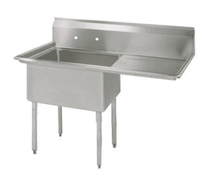 "BK Resources: BKS-1-1620-12-18R: 1 COMP SINK 16X20X12D 18"" RIGHT DB"