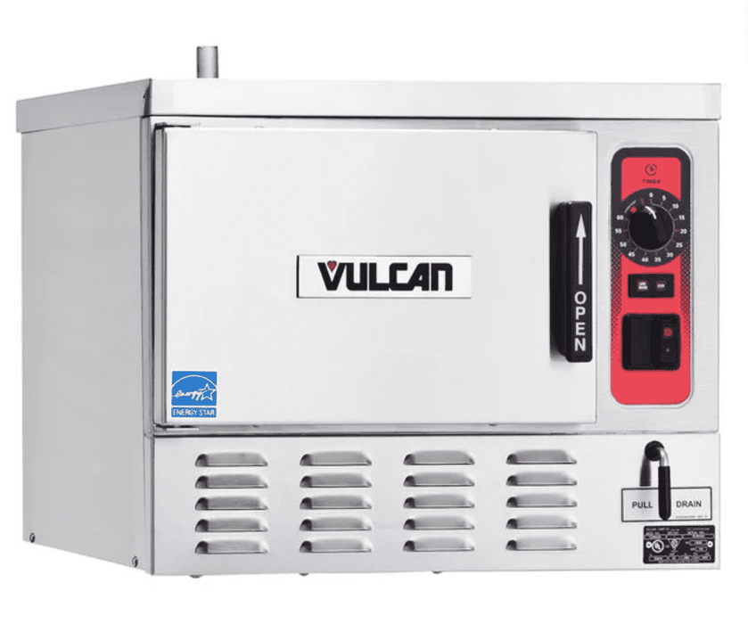 Vulcan C24EO3-1 3 Pan Boilerless/Connectionless Electric Countertop Steamer - 208/240V, 8 kW