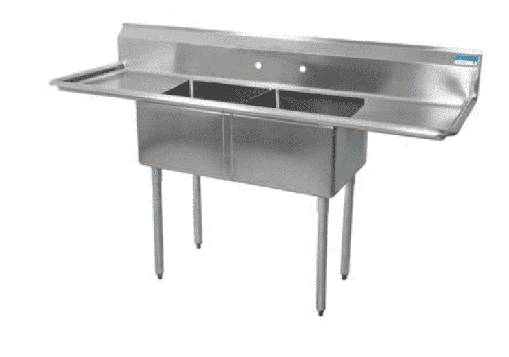 "BK Resources: BKS-2-24-14-24T: 2 COMP SINK 24X24X14D 2-24"" DB"