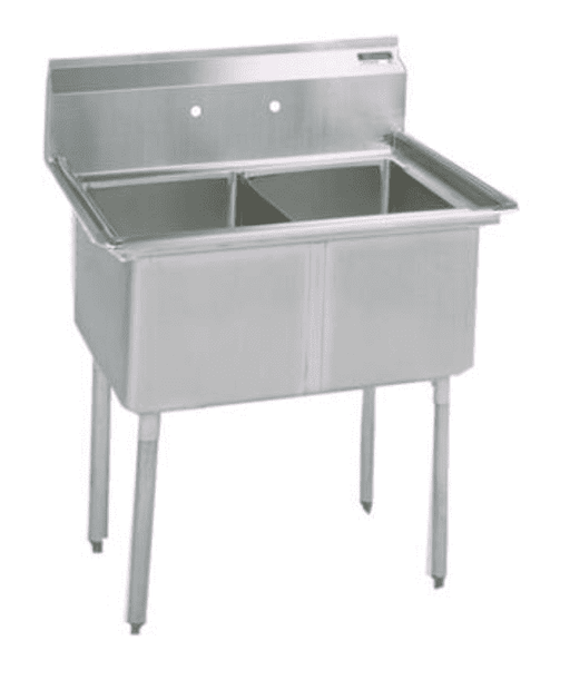 BK Resources: BKS-2-1620-12: 2 COMP SINK 16X20X12D NO DB