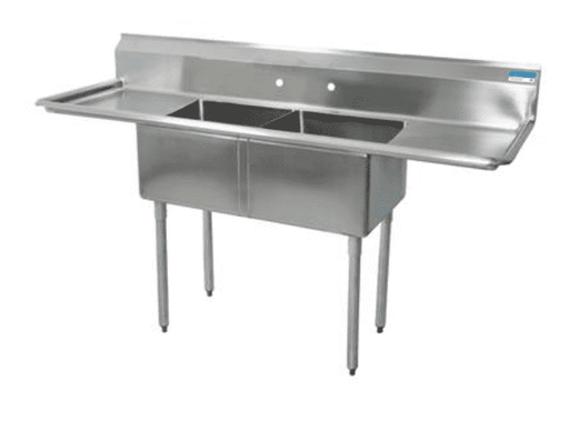 "BK Resources: BKS-2-1620-12-18T: 2 COMP SINK 16X20X12D 2-18"" DB"