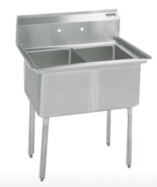 BK Resources:BKS-2-18-12: 2 COMP SINK 18X18X12D NO DB