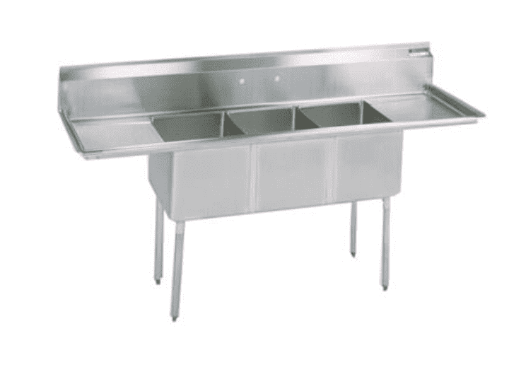 "BK Resources: BKS-3-1620-14-18T: 3 COMP SINK 16X20X14D 2-18"" DB"