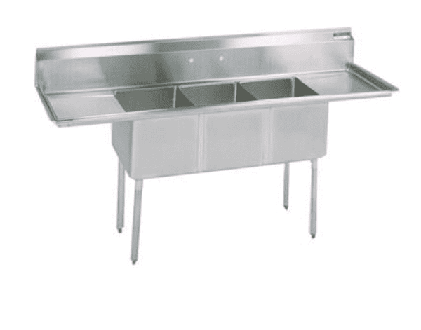 "BK Resources: BKS-3-20-14-24T: 3 COMP SINK 20X20X14D 2-24"" DB"