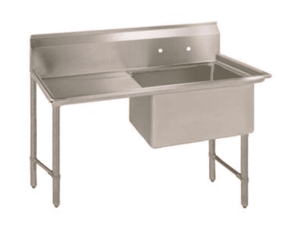 BK Resources: BKS6-1-24-14-24LS: 16 GA 1 COMP SINK, 24 X 24 X 14D BOWL