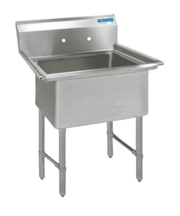 BK Resources: BKS6-1-24-14S: 16 GA 1 COMP SINK 24 X 24 X 14D BOWL