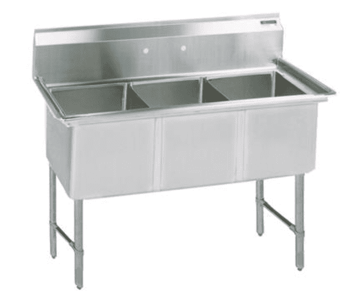 BK Resources: BKS6-3-1620-14S: 16 GA 3 COMP SINK 16 X 20 X 14D BOWLS
