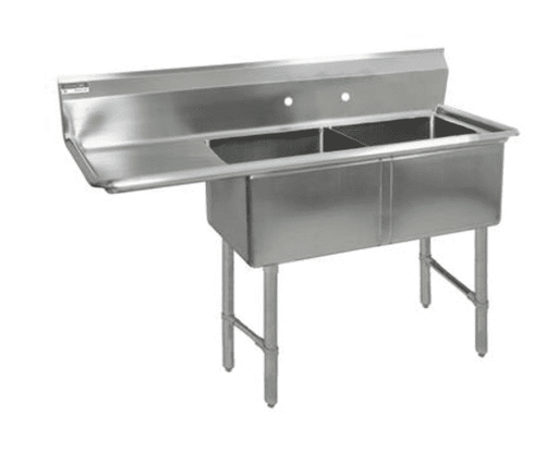 BK Resources: BKS6-2-1620-14-18LS: 16 GA 2 COMP SINK 16 X 20 X 14D BOWLS